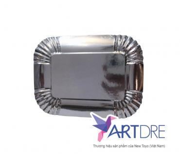 Rectangle shape paper plate 20 x 15 cm