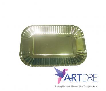 Rectangle shape paper plate 24 x 16 cm