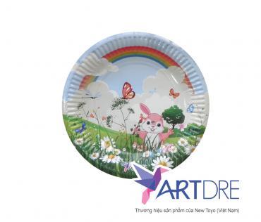 Round shape paper plate 13cm - 1
