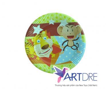 Round shape paper plate 17cm - 1
