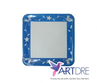 Square shape paper plate 24.5 x 24.5 cm