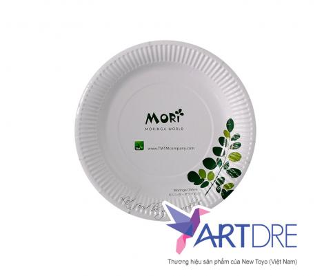 Đĩa giấy in logo Mori 17cm