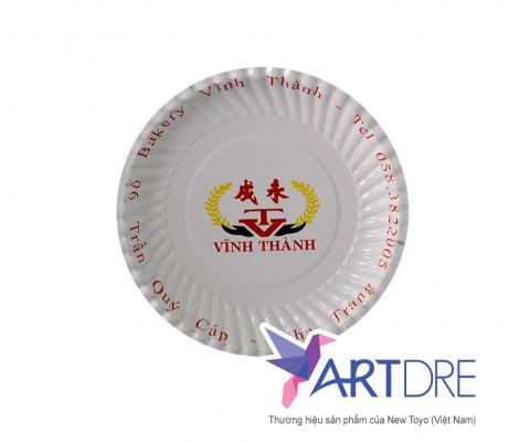 Đĩa giấy in logo Vĩnh Thành 16cm