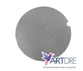 Khay tròn Mpet bạc - 25.5cm