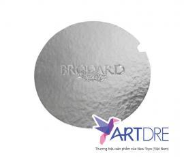 Khay tròn Mpet bạc logo Brodard