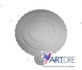 Khay tròn Mpet bạc logo Origato