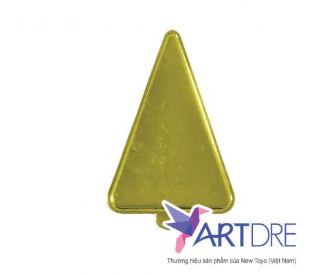 Khay tam giác tay cầm Mpet Vàng - 8x12.5x12.5
