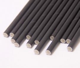 Ống hút giấy màu đen