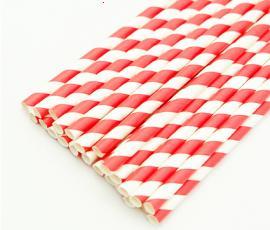 Ống hút giấy sọc đỏ trắng