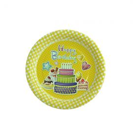 Round shape paper plate 19cm - 1