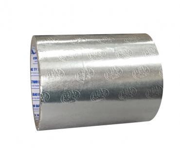 Giấy nhôm bạc cán vân Logo Đại Phú